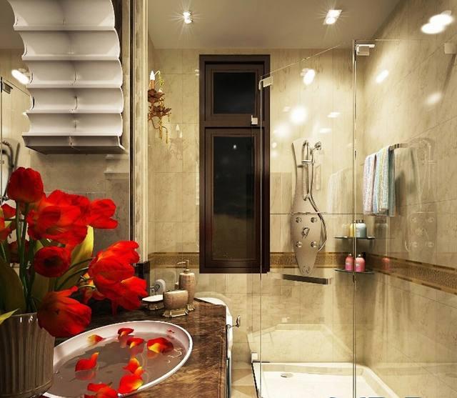 ca bin phòng tắm biệt thự cổ điển 3 tầng 15x20m