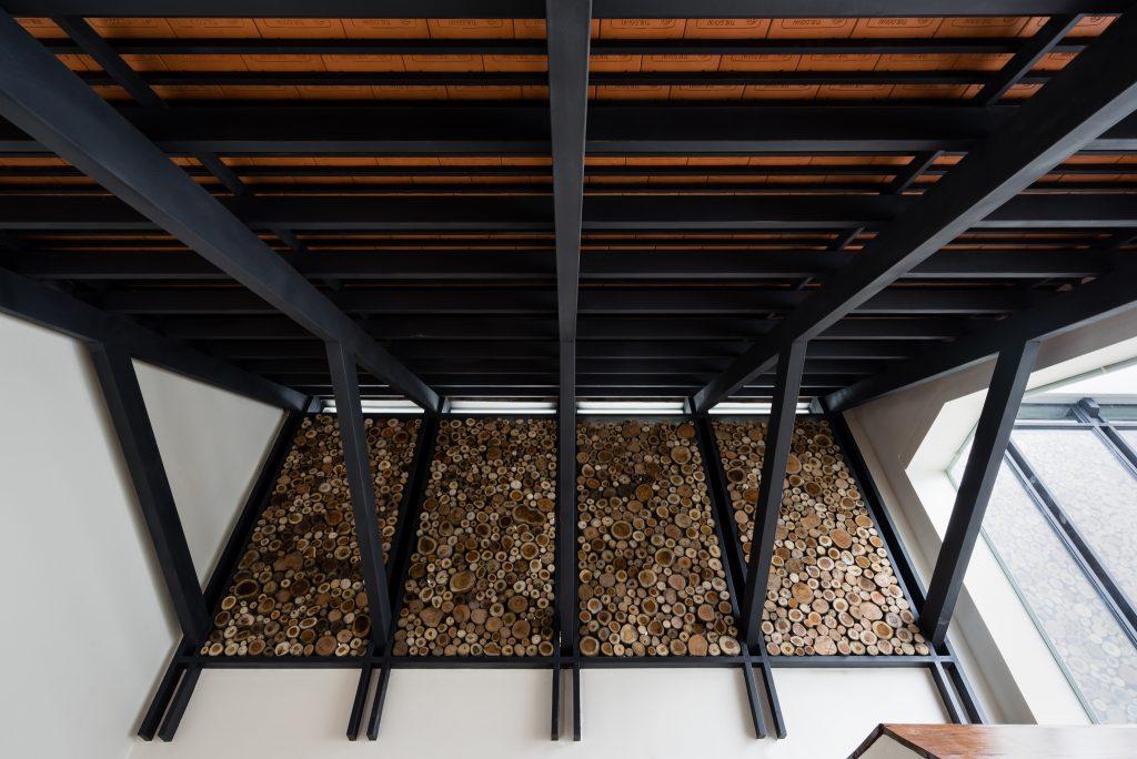 kết cấu mái gỗ nhà lô phố 2 tầng 150 m2.