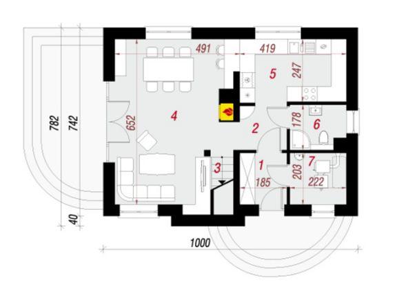 mặt bằng tầng trệt mẫu nhà cấp 4 đẹp 78m2