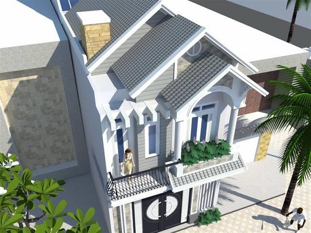 mẫu nhà phố 2 tầng 5x20m2