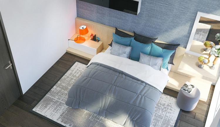 phòng ngủ trong nhà phố 4 tầng