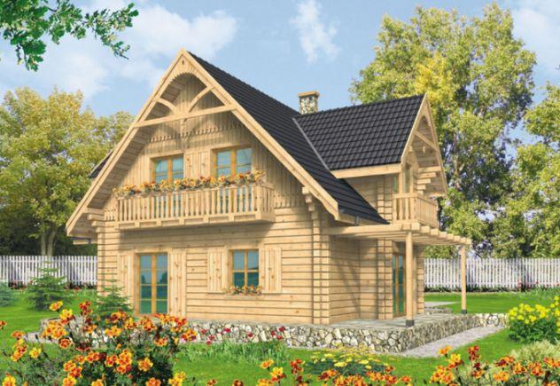 phối cảnh mẫu nhà cấp 4 đẹp tường ốp bằng gỗ