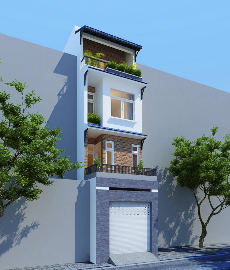 phối cảnh nhà phố 4 tầng