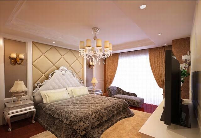 phòng ngủ biệt thự cổ điển 3 tầng 15x20m