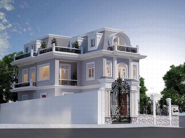 thiết kế biệt thự cổ điển 15x20m
