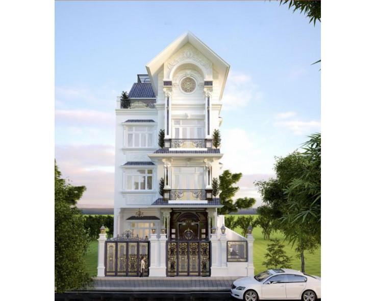 Biệt thự đẹp 4 tầng kiểu Pháp
